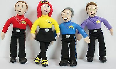 THE WIGGLES Set Of 4 Characters Plush Dolls Stuffed Toys 9 Inch 23 cm 2013 Lot