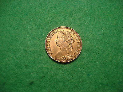 Victoria Farthing 1875 H NICE HIGH GRADE WITH LUSTRE GOOD DETAIL F107