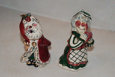 BLUE SKY Santa and Mrs Claus Ornaments Candle Snuffers Heather Goldminc