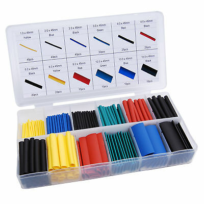 280pcs Cable Heat Shrink Tubing Sleeve Wire Wrap Tube 2:1 Assortment Kit Box Set