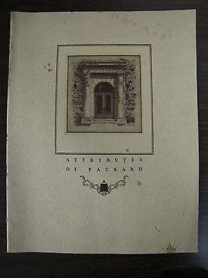 Attributes of Packard Original Color 1927 Sales Brochure T A Bryson & Sons Card
