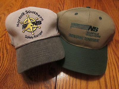 Two Norfolk Southern  NS Railroad Hats, NEW, Train