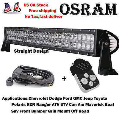 32inch LED Light Bar Flood Combo 4X4 Offroad Truck Jeep SUV Driving Straight 30""