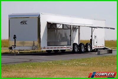 IN STOCK 8.5 X 34 Aluminum ATC Enclosed Carhauler Trailer w/ 2 Escape Doors