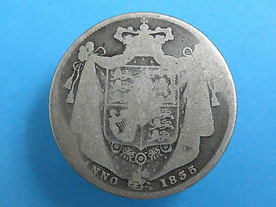 1835 King William IV - SILVER HALFCROWN COIN - Worn but Clear Date