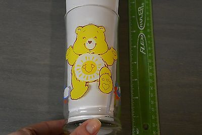 Vintage Pizza Hut Care Bears Funshine Bear Feeling Funtastic! Glass Cup