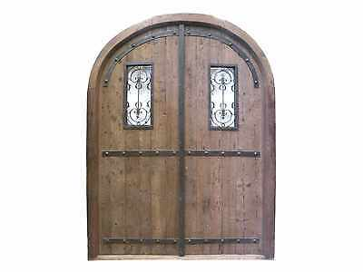 Rustic Arched Double Entry Door #D1208