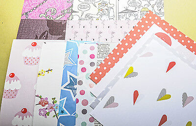 "100 sheets craft paper and card 6"" x 6"" patterned plain 50 6 x 6"" and 50 3 x 3"""