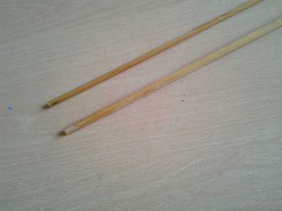 2 Unused Split Cane Fly Rod Tip Section Blanks