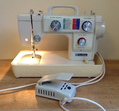 Superb Heavy Duty Janome New Home 691 Zig Zag Sewing Machine With Case And Pedal