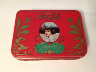 Vintage Coca-Cola Playing Cards in Tin Box - Victorian Lady with Hat