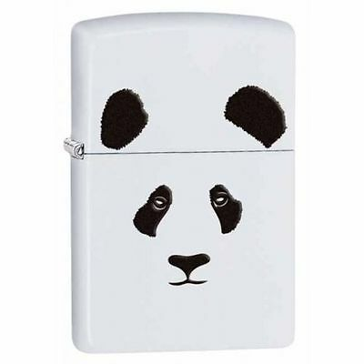 Zippo 28860, Giant Panda Bear, White Matte Finish Lighter, Full Size