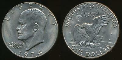 United States, 1974-D One Dollar, $1, Eisenhower - Uncirculated