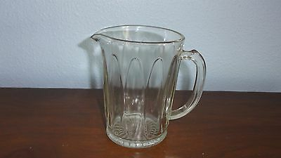 """VINTAGE CLEAR GLASS PITCHER 6"""" tall"""