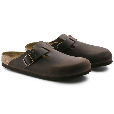 cheaper 29538 8886e BIRKENSTOCK BOSTON CIABATTE 100% Pelle Colore Marrone Habana Ciabatte Uomo  Donna