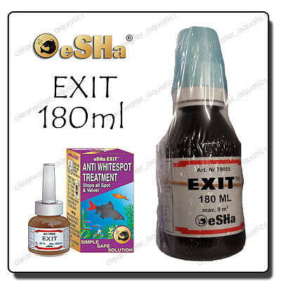 Esha Exit Whitespot Ich Velvet Fish Treatment for aquariums 180ml BULK