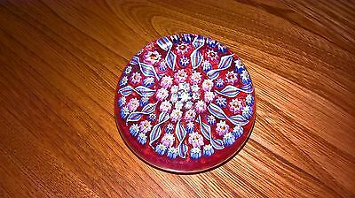 Perthshire Glass Paperweight 11 Twist Canes Thistle Cane Centre Pink Colouring