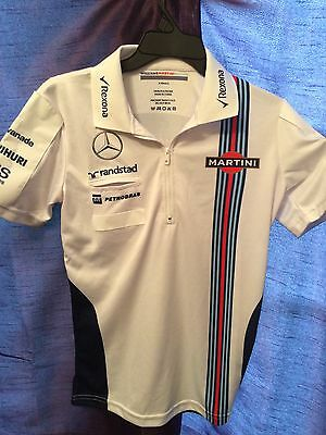 Williams Martini F1 Polo Shirt Race Used TEAM ISSUE KIT Size XS Extra Small