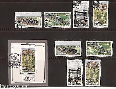 1989 Transkei Railway Stamps Unused Fine Mini Sheet & 2 Sets  - See Scan