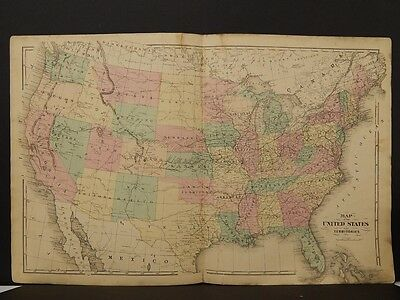 United States Map, Antique, 1876 N5#79