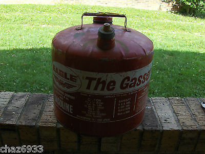 Vintage Eagle Gas Can The Gasser 5 Gal.