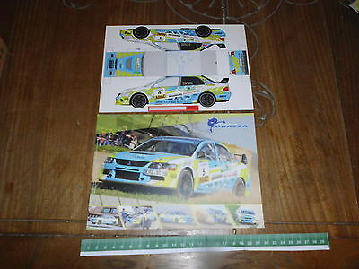Corazza Rally Team Mitsubishi Lancer 1X Rally Card Rallye Adac