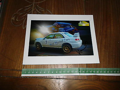 Kuhne Subaru Impreza Trabant Signed Rally Photo Card Foto Autografata