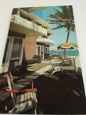 Vintage Mid Century The Seaward Lauderdale by the Sea Florida Postcard