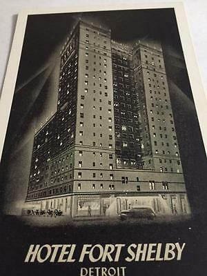 Hotel Fort Shelby Detroit Postcard