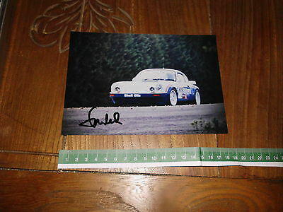 Michael Stoschek Porsche Rothmans Signed Rally Photo Foto Autografata Rallye