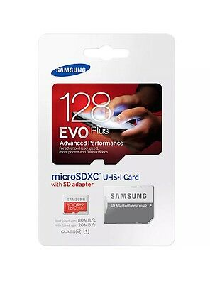 Samsung Evo Plus 128GB Micro SD Card- Class10 with Adapter-Retail Pack-UK Seller