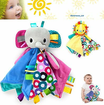 Taggies Bright Starts Cuddles N Tags Blankie / Plush Comforter Baby Blanket Toy