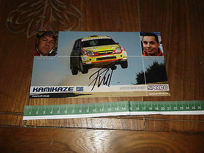 Valousek Suzuki Ignis S1600 Signed Rally Card Rallye