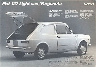 Fiat 127 Light Van Furgoneta c.1973 Central America sales brochure/leaflet