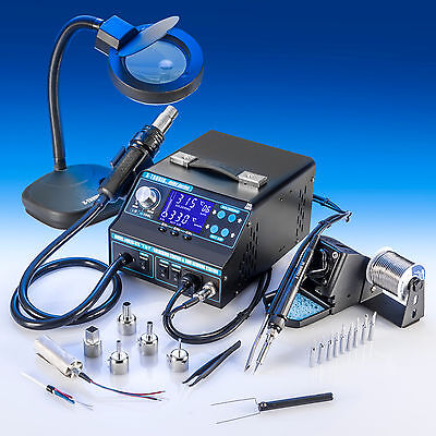 X-Tronic Model #9020 ESD Safe Hot Air Soldering Iron Station & Fume Extractor