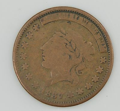 """1837 Hard Times Token """"Not One Cent For Tribute"""" *Z54"""