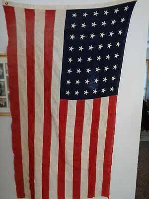3' X 5'  U.s./us American 48 Star Flag Cotton Embroidered Stars