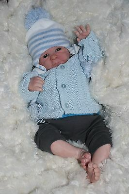 Butterfly Babies Reborn Doll Fake  Baby Boy Doll Painted Hair Premature Size