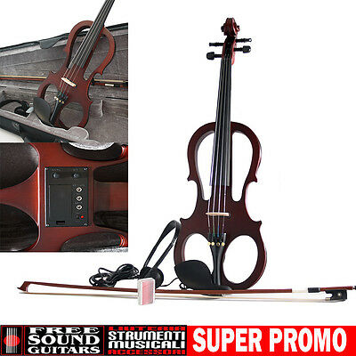 SOUNDSATION E-MASTER Violino elettrico 4/4 + Custodia + Archetto + Accessori