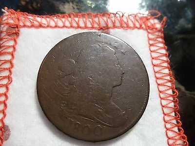 1800 S-204 R4 Draped Bust Large Cent Scarce Variety-Provenance & flips included