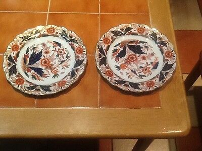 """2  BOOTHS DOVEDALE Imari style 8"""" plates"""