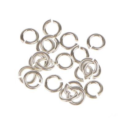 20 Sterling Silver Open Split JUMP RINGS Findings for Jewelry Making