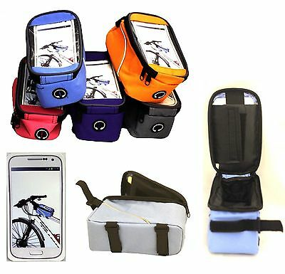 Bicycle Bike Cycle Frame Pannier Front Tube Bag Pouch Case For Mobile Phone