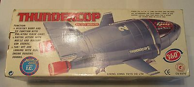 Thundercop 2 Battery Operated Thunderbirds Space Ship Gerry Anderson Complete