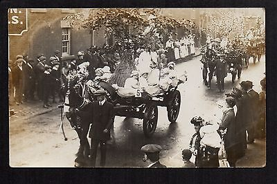 Leyland May Festival 1914 - real photographic postcard