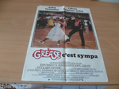 (14) Affiche Cinema 40 X 55  Grease C'est Sympa Travolta  Newton-John