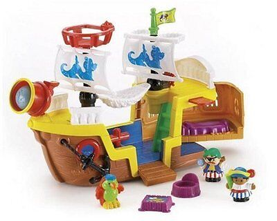 Mattel Fisher Price Little People Piratenschiff J4419, Pirat, Neu und OVP, Rar