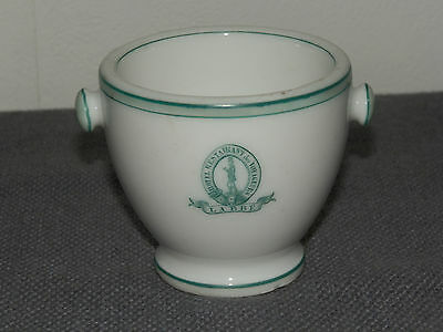 Ancien Pot A Creme Publicitaire Porcelaine De Paris