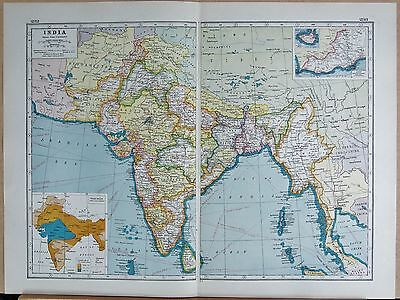 1920 Map -Post Ww1- India