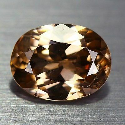 1.400 Cts Full Fire Natural Natural Earth Mine Brown Color Zircon Loose Gemstone